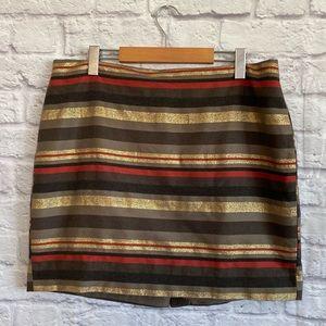 BANANA REPUBLIC FACTORY Metallic Stripe Skirt